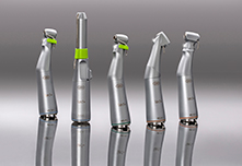The new straight and contra-angle handpieces offer the surgeon a wide range